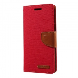 Samsung Galaxy J5(2017)  Canvas Wallet Case  Red