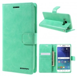Samsung Galaxy J5(2016) Bluemoon Wallet Case Mint