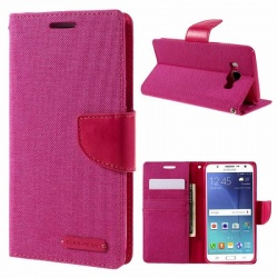 Samsung Galaxy J5(2016)  Canvas Wallet Case  Pink