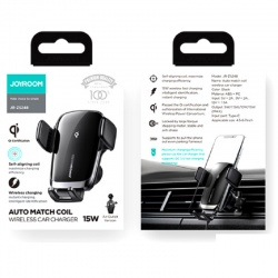 Auto Match Coil 15W Airvent Wireless Car Charging | JR-ZS248