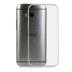 HTC One M8 Silicon Case Clear