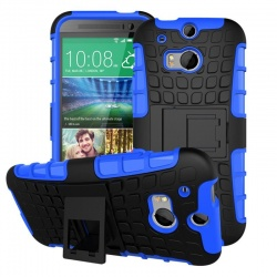 HTC One M8 Tyre Defender Blue