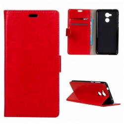 Huawei Y7 PU Leather Wallet Case Red