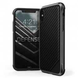 iPhone X Case  Defense LUX BlackCarbon