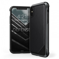 iPhone X Case  Defense LUX BlackLeather