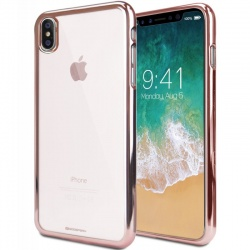 iPhone X Case Goospery Ring2 Jelly Case RoseGold