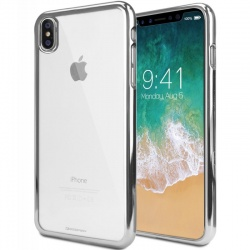 iPhone X Case Goospery Ring2 Jelly Case Silver