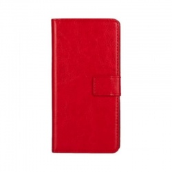 Motorola C Plus PU Leather Wallet Case Red