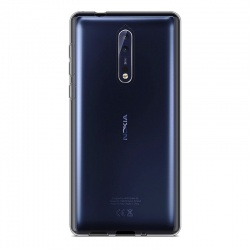 Nokia 8 Silicon Clear Case