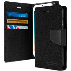 Huawei P8 Lite(2017) Canvas Wallet Case  Black