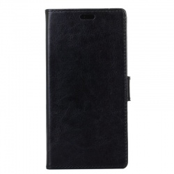 Sony Xperia XZ1 PU Leather Wallet Case Black