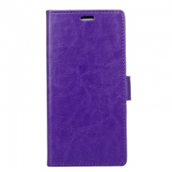 Sony Xperia XZ1 PU Leather Wallet Case Purple