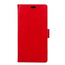 Sony Xperia XZ1 PU Leather Wallet Case Red