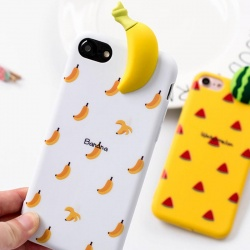 iPhone 7 / iPhone 8 Case 3D Fruit Summer Soft Banana
