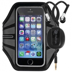 ReTrak Black Sport Armband with Earphones