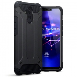 Huawei Mate 20 Lite Dual Layer Hybrid Soft TPU Shock-absorbing Protective Cover Black