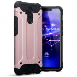 Huawei Mate 20 Lite Dual Layer Hybrid Soft TPU Shock-absorbing Protective Cover RoseGold