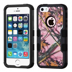 iPhone SE/5S/5 MyBat  Pink Oak-Hunting Camouflage Collection/Black TUFF Hybrid Protector Cover
