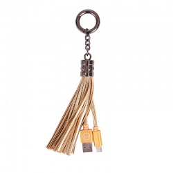 Lightning to USB Tassel Cable Gold|Mizoo