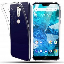 Nokia 7.1 Silicon Clear TPU Case