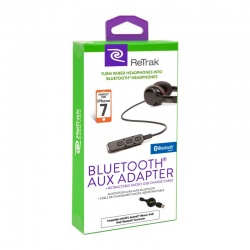 RETRAK Bluetooth Auxiliary to 3.5mm Adapter, Turn Wired headphones into Wireless
