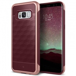 Samsung Galaxy S8 Plus Caseology Parallax Series Case- Burgundy