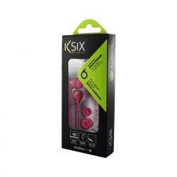 KSIX GO&PLAY SMALL2 EARPHONES WITH MICROPHONE PINK