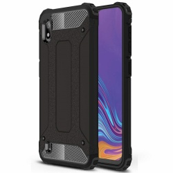 Samsung Galaxy A10 Luxury Armor Cover Black
