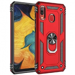 Samsung Galaxy A20e Ring Armor Cover Red