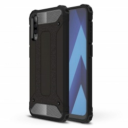 Samsung Galaxy A50 Case - Black Luxury Armor