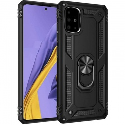 Samsung Galaxy A71 Case - Black Ring Armor