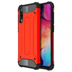 Samsung Galaxy A7(2018) Dual Layer Hybrid Soft TPU Shock-absorbing Protective Cover Orange