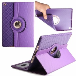 iPad Mini 1/2/3 Case Detachable Cover With 360 Rotating Purple