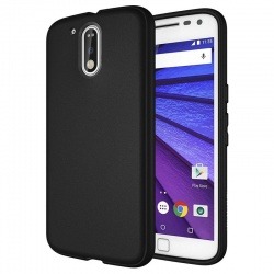 Motorola G4 Plus  Silicon Cover Black