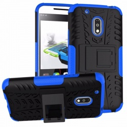 Motorola G4 Plus Tyre Defender Cover Blue
