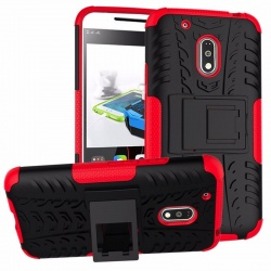 Motorola G4 Plus Tyre Defender Cover Red