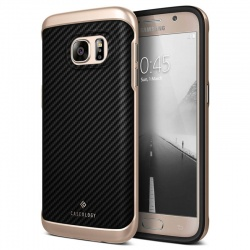 Samsung Galaxy S7 Envoy Series Case - Carbon Fiber Black