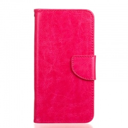 HTC 650 PU Leather Wallet Case Pink