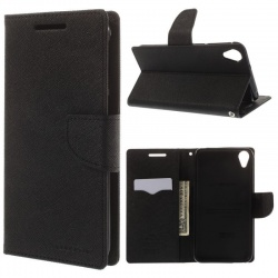 HTC 825 Goospery Fancy Diary Case Black