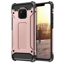 Huawei Mate 20 Pro Dual Layer Hybrid Soft TPU Shock-absorbing Protective Cover RoseGold