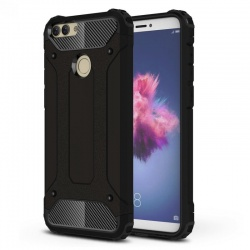 Huawei P Smart Dual Layer Hybrid Soft TPU Shock-absorbing Protective Cover Black