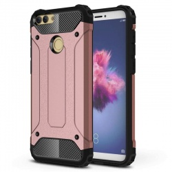 Huawei P Smart Dual Layer Hybrid Soft TPU Shock-absorbing Protective Cover RoseGold