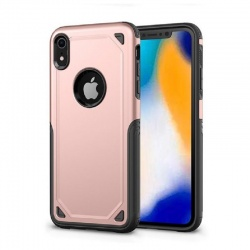 Apple iPhone XR Protective Hybrid Shockproof Case| RoseGold