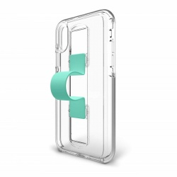iPhone XR Case Bodyguardz SlideVue Series - Clear / Mint