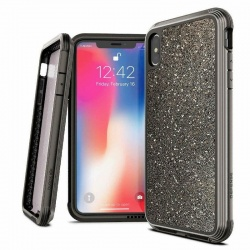 iPhone XR Case X-Doria Lux Series - Dark Glitter