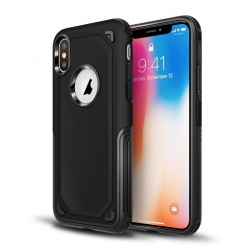 Apple iPhone XS Max Protective Hybrid Shockproof Case| Black