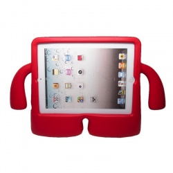 iPad Mini 1/2/3/4 Case for Kids Drop-proof Shockproof Cover Case with Kickstand Kids Case Red