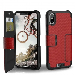 iPhone X UAG Metropolis Feather-Light Case Magma