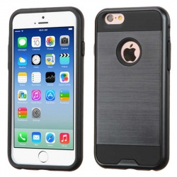iPhone 6S/6 MyBat ASMYNA Black/Black Brushed Hybrid Protector Cover