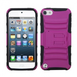 iPod Touch (6th Generation) MYBAT Hot Pink/Black Advanced Armor Stand Protector Cover
